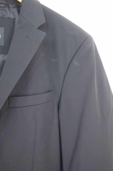 ヒューゴボス HUGO BOSS テーラードジャケット メンズ黒系 EUR 46 ストレッチノッチドラペル3Bテーラードジャケット ブランド古着バズストア300319vbymY76gIf