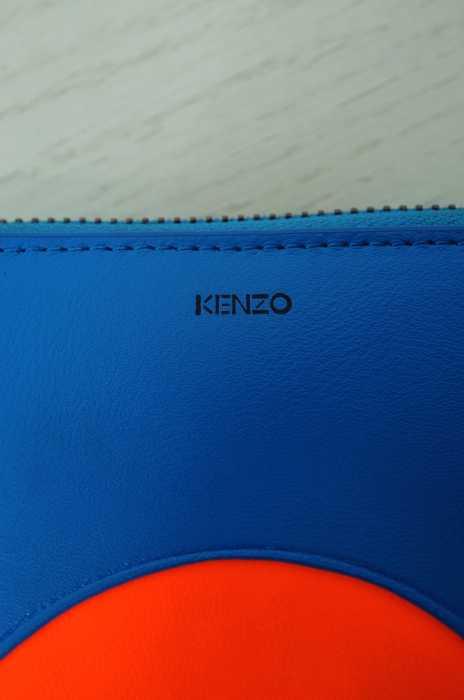 KENZO ケンゾー16AW Wallet Main FW16 ラウンドファスナー二つ折り財布 サイズ TUレディース 女性 WOMEN 服飾雑貨 オレンジ × ブルー系8 000円以上で送料無料古着USED10P03Dec16KTcl1F3J