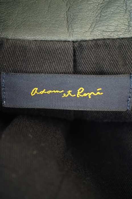 アダムエロペ Adam et Rope レザージャケット メンズ黒系 40 シングル スタンドカラー ブランド古着バズストア041118j45A3RLq