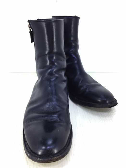 日本に ディオールオム Dior HOMME ブーツ メンズ - 黒系 US:10 サイドダブルジップ レザー ブーツ【】【ブランド古着バズストアBAZZSTORE】【050919】, 大川家具@館Shop 4ae18c32