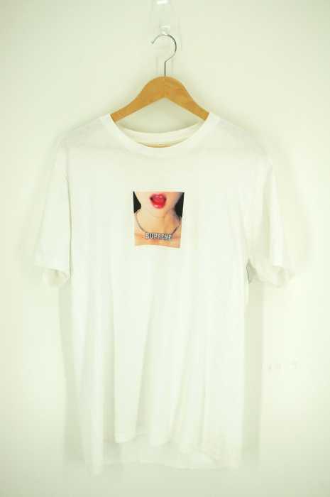 シュプリーム Supreme クルーネックTシャツ メンズ 2018年春夏新作 白系 import:M 18SS Necklace Tee【中古】【ブランド古着バズストア】【140918】