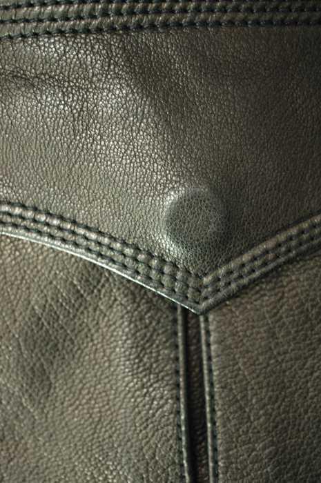 エルエイチピー LHP ライダースジャケット メンズ黒系 × ゴールド系 JPN S バンドカラーダブルライダースジャケット ブランド古着バズストア151118n0N8wOvm
