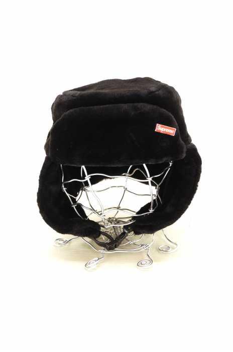 シュプリーム Supreme ハット帽子 メンズ - 黒系 ONE SIZE ONE SIZE FAUX FUR USHANKA HAT【中古】【ブランド古着バズストアBAZZSTORE】【080120】
