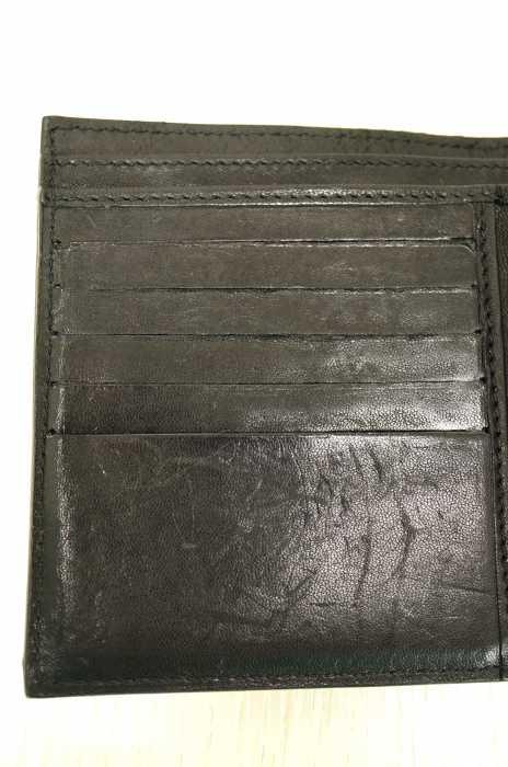 a87cd399cb1e ... ジミーチュウJIMMYCHOO二つ折り財布メンズ-黒系×シルバー系FRIDAフリーダメタリック