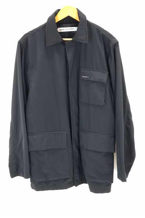 サンローランジーンズ Saint Laurent jeans ブルゾン・ジャンパー メンズ - 黒系 JPN:M フォールドジャケット【中古】【ブランド古着バズストアBAZZSTORE】【211219】