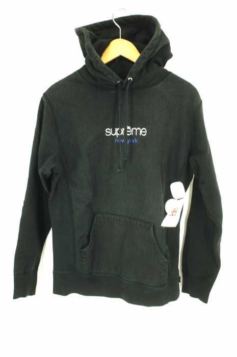 シュプリーム Supreme プルオーバーパーカー メンズ 2016年秋冬新作 黒系 S Chrome Classic Logo Hooded Sweatshirt クロームクラシックロゴスウェットプルオーバーパーカー【中古】【ブランド古着バズストア】【170718】