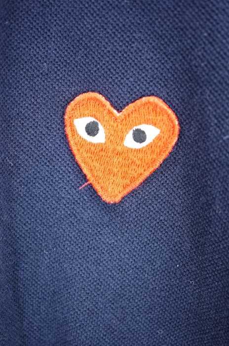 プレイコムデギャルソン PLAY COMME des GARCONS ポロシャツ レディース赤系 × 青系 JPN M AD2015 半袖ポロシャツ ブランド古着バズストア290718UzMVpS