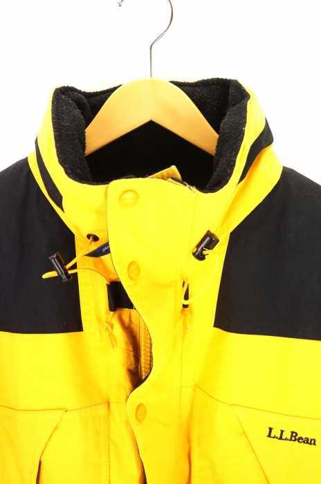 エルエルビーン L L Bean マウンテンジャケット メンズ 80年代ビンテージ 黒系 × 黄系 L 切替スタンドカラージャケット ブランド古着バズストアBAZZSTORE061219qGSLUzpjMV