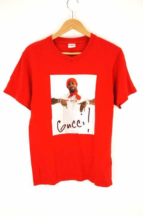 シュプリーム Supreme クルーネックTシャツ メンズ 2016年秋冬新作 黒系 × 赤系 JPN:S Gucci Mane Tee【中古】【ブランド古着バズストア】【190918】