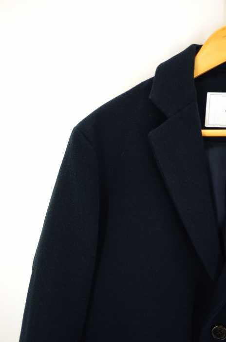 フォーワンセブンバイエディフィス 417byEDIFICE チェスターコート メンズ 2016年秋冬新作 青系 L ショートチェスターコート ブランド古着バズストア290718TJlFc1K