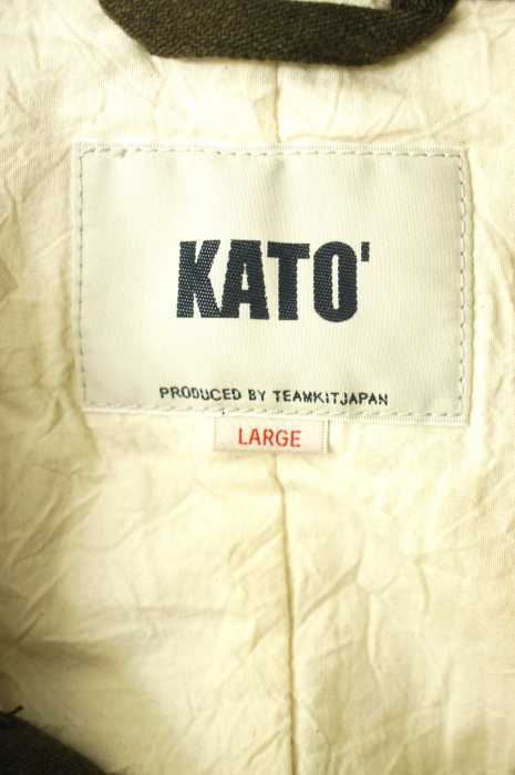 カトー KATO ジャケット メンズ 2017年秋冬新作 緑系 JPN L ラウンドカラーウールブレンド ブランド古着バズストア211218AR5j4L3