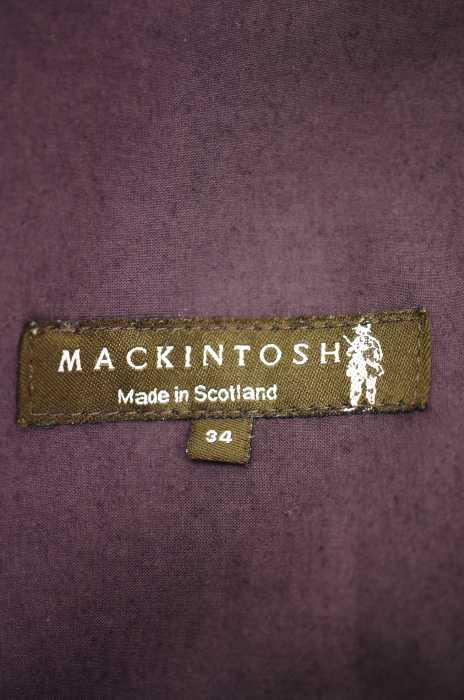 マッキントッシュ Mackintosh ステンカラーコート レディース紫系 34 ゴム引き比翼ステンカラーコート ブランド古着バズストア2002192IWEDH9