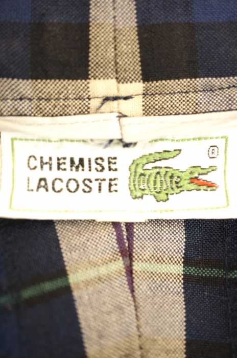 06fb58f8679c0 Lacoste LACOSTE slacks underwear men 80s vintage blue system X purple  system JPN: 4 Vintage CHEMISE LACOSTE Plaid Checkered Wool Pants slacks  tapered ...