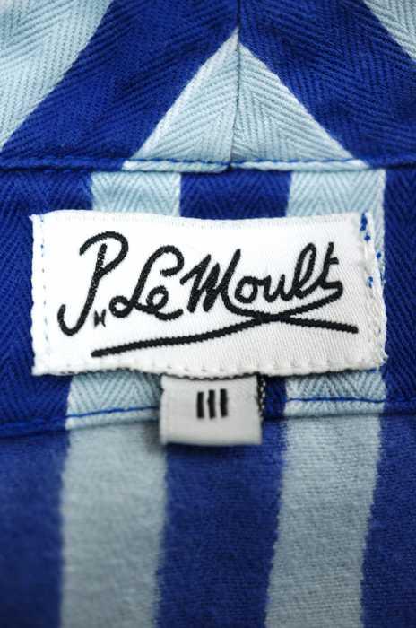 P Le Moultピー ル モルト アウター レディース青系 × 白系 3 ストライプナイトガウン ブランド古着バズストア210918zpUMqVS