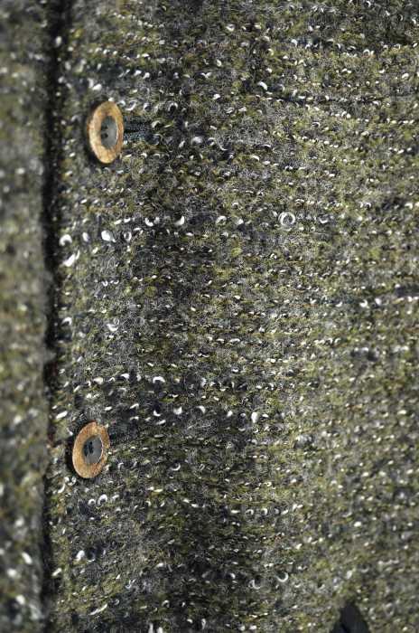 エレファンブラン Elephant Blanc コート メンズ 2014年秋冬新作 グレー系 × 黒系 JPN 46 日本サイズ M L 相当 14AWミックスプードル ロングスタジャン ブランド古着バズストアBAZZSTORE110120Pk8wOn0