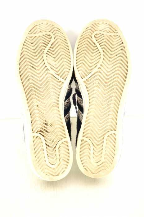 adidas × ZOZOTOWN アディダス × ゾゾタウン スニーカー メンズ , ホワイト × ネイビー 25.0cm CAMPUS 80\u2019s  ハラコ スネーク スエード スニーカー【中古】【ブランド古着バズストア】【190418】 BAZZSTORE ブランド古着バズストア