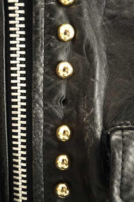 フルギ APACHE LEATHER レザージャケット メンズ黒系デニム切替 ライダースジャケット ブランド古着バズストアBAZZSTORE2112194A5RjL3