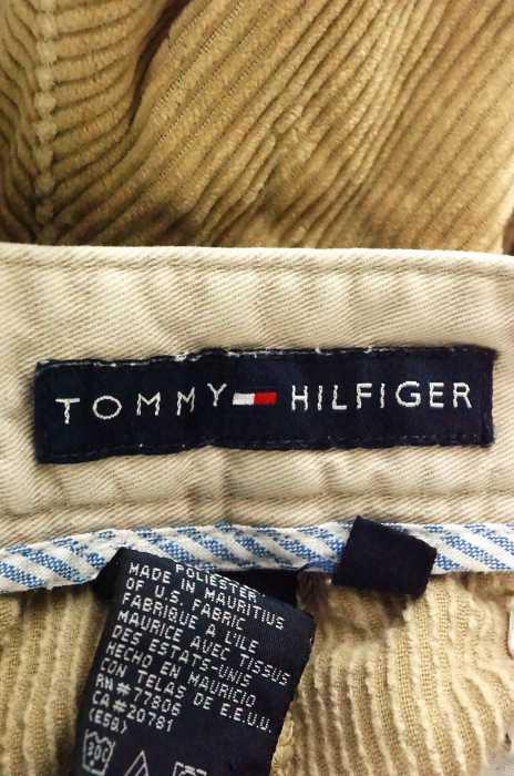 トミーヒルフィガー TOMMY HILFIGER ワイドパンツ メンズ茶系 US 34 35 ワイドコーデュロイパンツ ブランド古着バズストア210819rthQsdCx