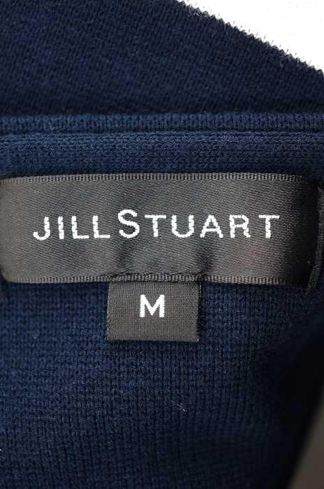 ジルスチュアート JILLSTUART ニット・セーター レディース 2018年春夏新作 青系 × 白系 M マーリンボーダーニット ブランド古着バズストア150518j354ARL
