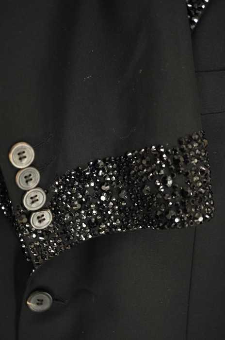 ジバンシィ GIVENCHY テーラードジャケット メンズ - 黒系 JPN:52 ラインストーン テーラードジャケット【ブラン