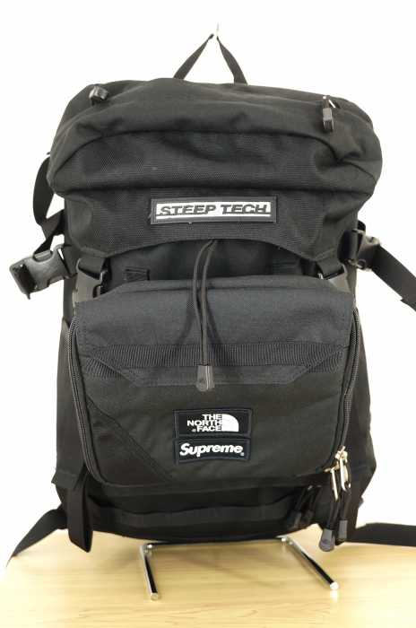 THE NORTH FACE×Supreme バックパック メンズ 2016年春夏新作 黒系 16SS STEEP TECH BACKPACK【中古】【ブランド古着バズストア】【060718】