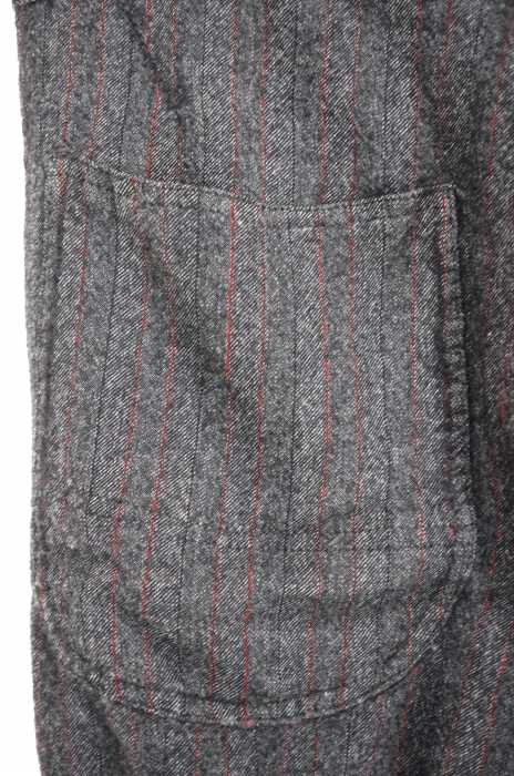 JUNYA WATANABE COMME des GARCONS ジュンヤワタナベコムデギャルソンスラックスパンツ サイズ Sメンズ AD2013 リペア加工ストライプパンツブランド古着バズストア061217UpqGVSMz