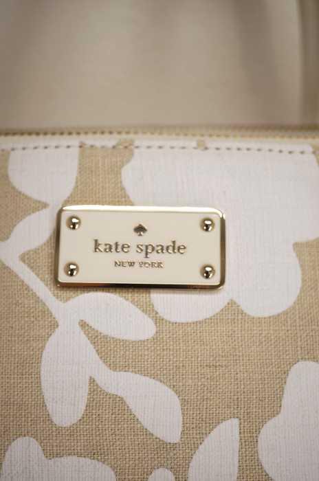 ケイトスペード Kate spade ハンドバッグ レディース茶系 × 白系ハンドバッグ ブランド古着バズストア11TclKFJ
