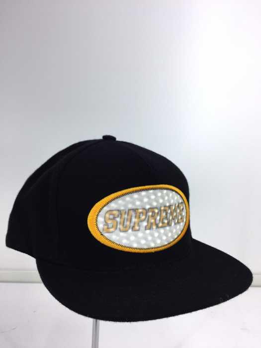 シュプリーム Supreme キャップ帽子 メンズ - 黒系  【中古】【ブランド古着バズストアBAZZSTORE】【200220】