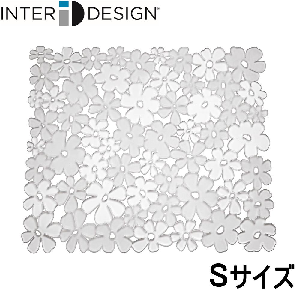 インターデザイン InterDesign シンクマット 花柄 クリア カット可能 発売モデル 新作 608608 Sサイズ