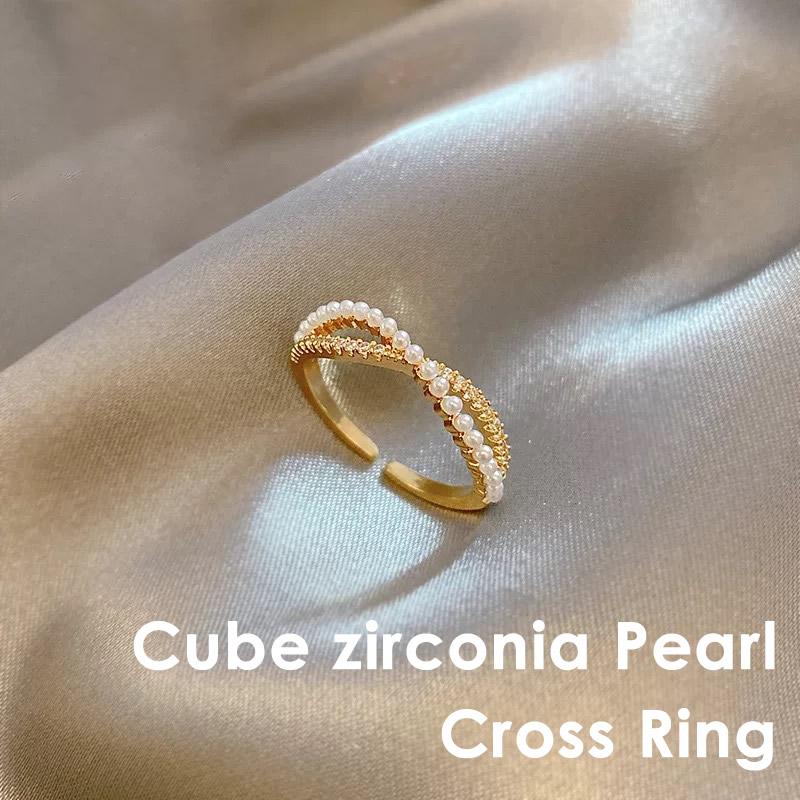 人気上昇中 キューブ ジルコニア クロスリング 指輪 本日の目玉 レディース キュービックジルコニア ジルコニアリング