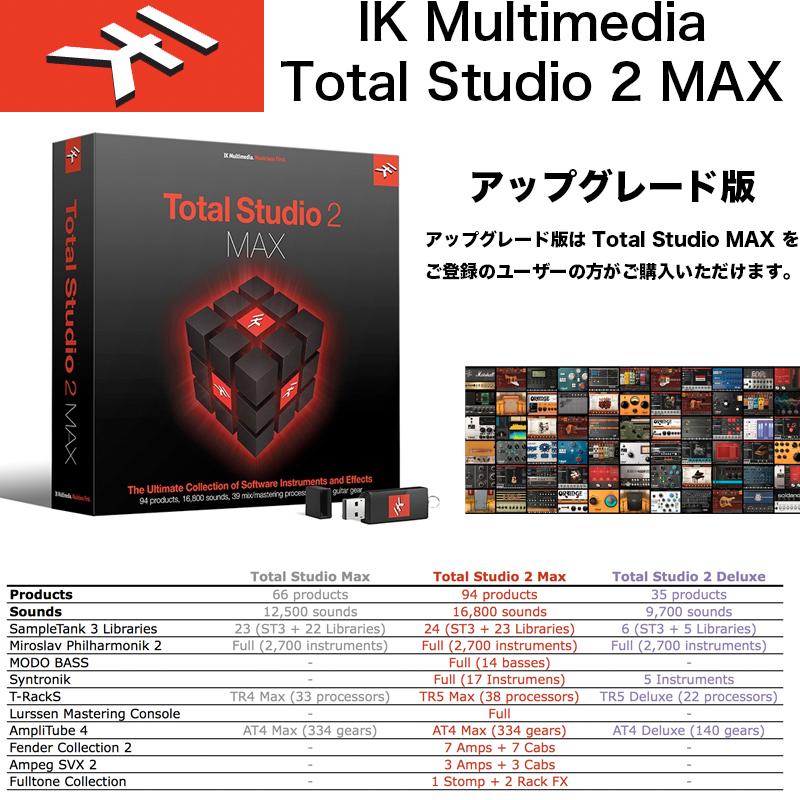 IK MULTIMEDIA | Total Studio 2 MAX アップグレード / IKマルチメディア トータルスタジオ 2 マックス アップグレード 国内正規品 送料無料