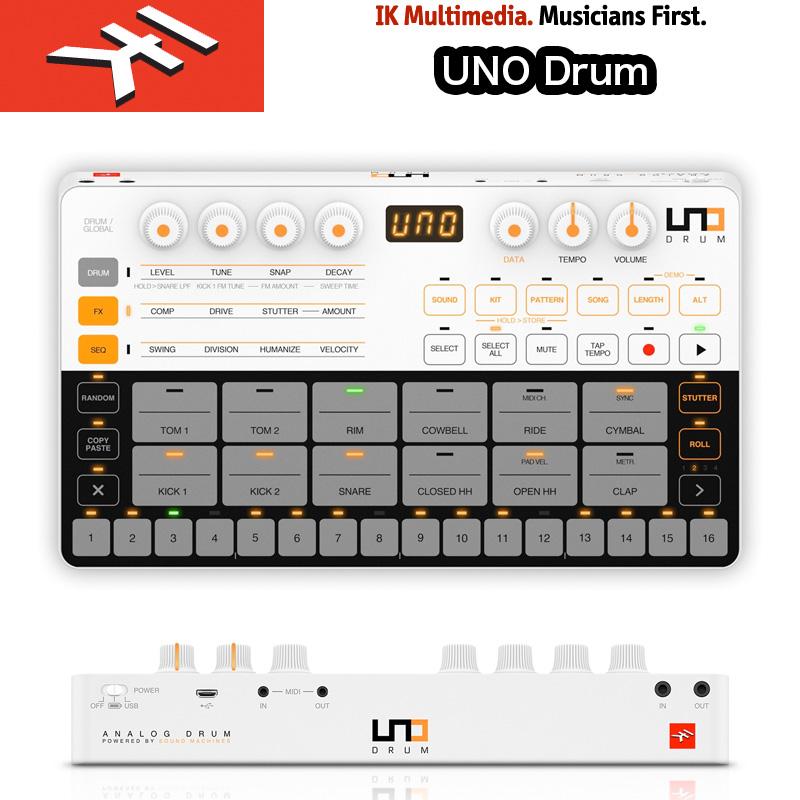 IK MULTIMEDIA   UNO Drum (ウノドラム) / IKマルチメディア 超コンパクトなアナログ/PCMドラムマシン 送料無料 国内正規品