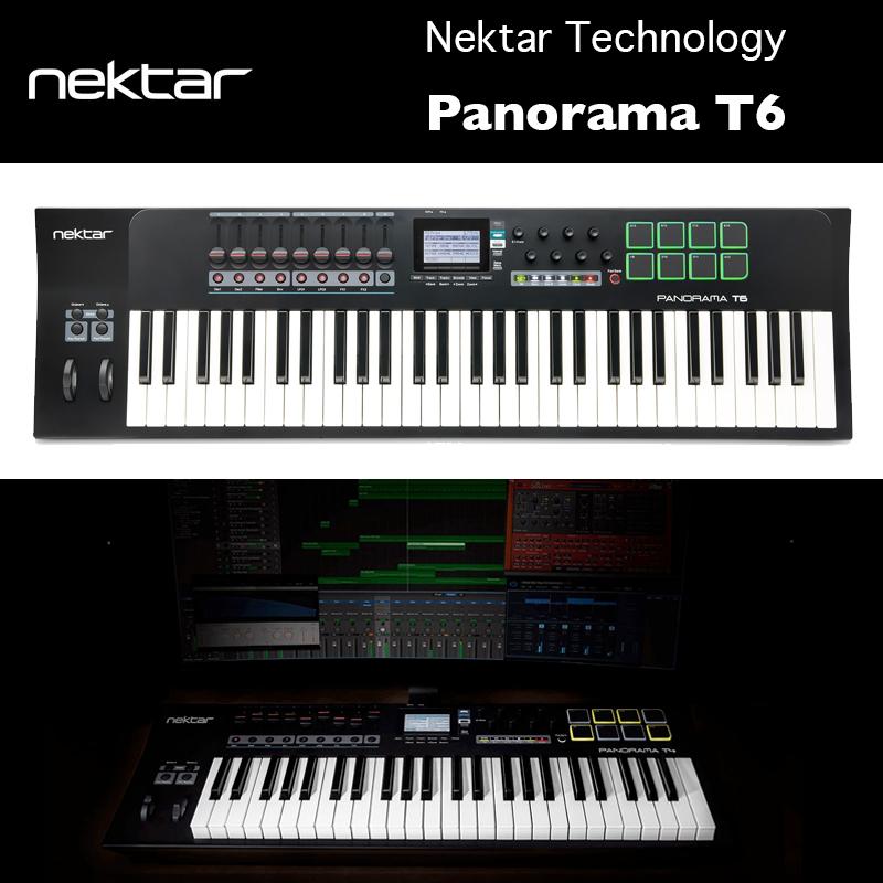 Panorama T6(パノラマティーシックス) | Nektar Technology | ネクター・テクノロジー|61鍵仕様第2世代シンセアクション鍵盤(ベロシティ/アフタータッチ対応) 国内正規品 送料無料