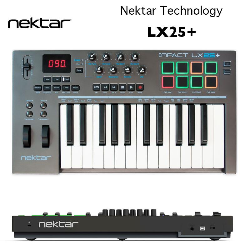 Impact LX25+   Nektar Technology   ネクター・テクノロジー インパクトLX25プラス 25鍵仕様のMIDIキーボード ベロシティ対応 国内正規品 送料無料