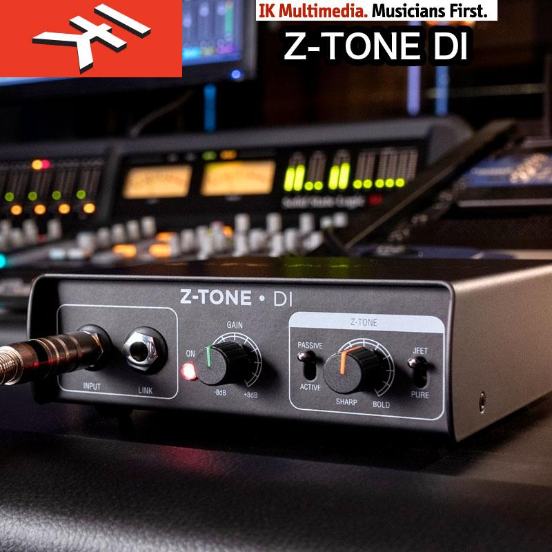 インピーダンスの不適合による音痩せやこもりを解消 IK Multimedia Z-TONE DI ズィートーンディーアイ インピーダンスを調整する JFET 毎日激安特売で 営業中です PURE セレクターといった機能を搭載したアクティブDIボックス スイッチ 国内正規品 世界の人気ブランド ピックアップ
