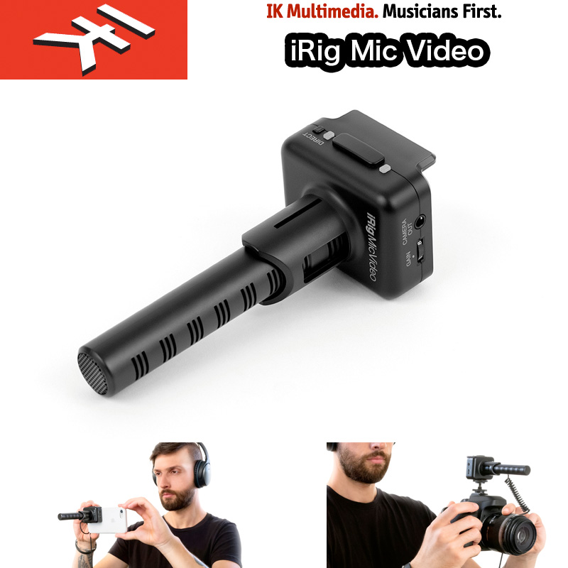 IK Multimedia | iRig Mic Video アイリグマイクビデオ 単一指向性(スーパー・カーディオイド) デジタル接続のショットガン・マイク 送料無料 国内正規品