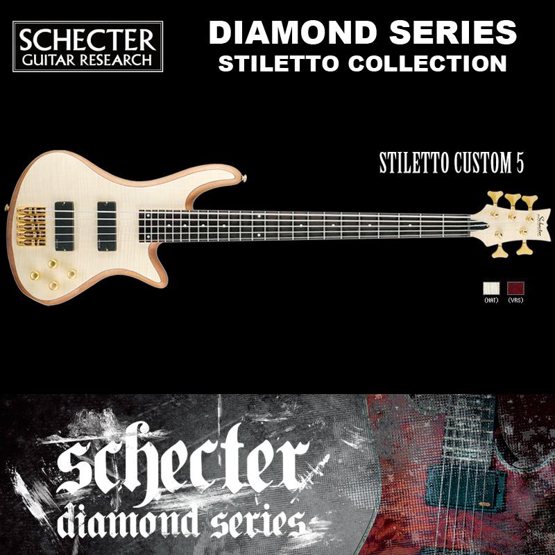 シェクター SCHECTER ベース / STILETTO CUSTOM 5 | AD-SL-CTM-5 スティレットカスタム5 5弦ベース カラー:ナチュラル ダイヤモンドシリーズ 2016年モデル 送料無料