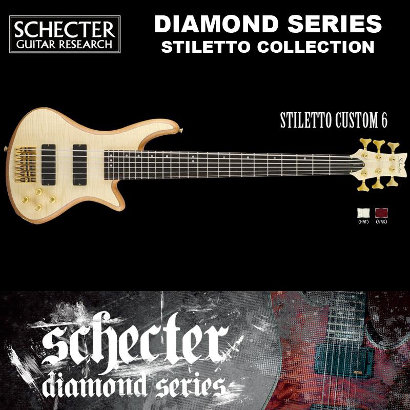 シェクター SCHECTER ベース / STILETTO CUSTOM 6 | AD-SL-CTM-6 スティレットカスタム6 6弦ベース カラー:ナチュラル ダイヤモンドシリーズ 2016年モデル 送料無料