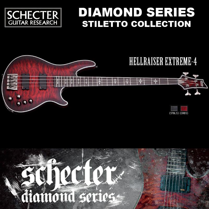 シェクター SCHECTER ベース / HELLRAISER EXTREME 4 | AD-HR-EX-BASS-4 ヘルレイザーエクストリーム レッド(赤) ダイヤモンドシリーズ 2016年モデル 送料無料