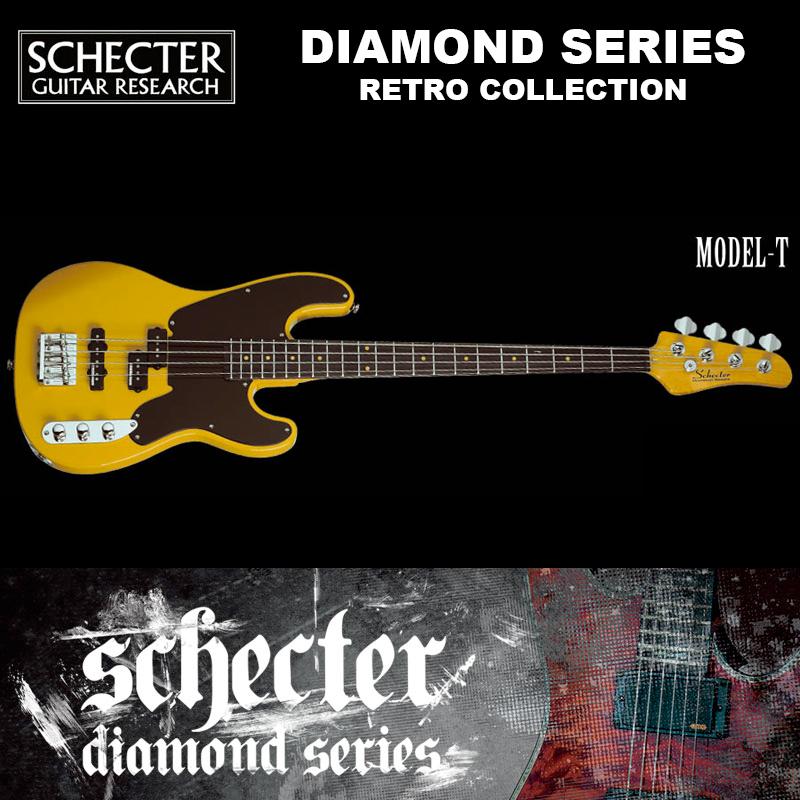 シェクター SCHECTER ベース / MODEL-T | AD-MODEL-T レトロコ レクション モデル-T バタースコッチ(黄) ダイヤモンドシリーズ テレキャスタイプ 送料無料