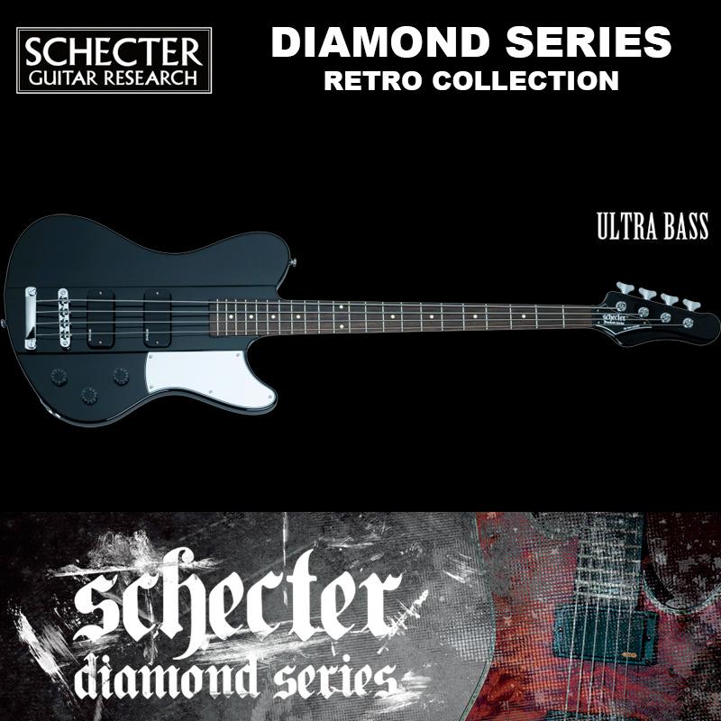 シェクター SCHECTER ベース / ULTRA BASS   ウルトラベース レトロコレクション ブラック(黒) ダイヤモンドシリーズ 送料無料