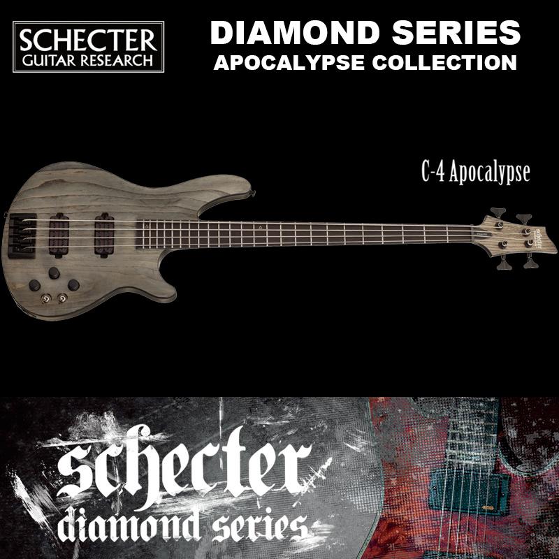 シェクター SCHECTER ベース / C-4 APOCALYPSE AD-C-4-APOC C4 アポカリプス アポカリプスコレクション 4弦 ブラック(黒) ダイヤモンドシリーズ 送料無料