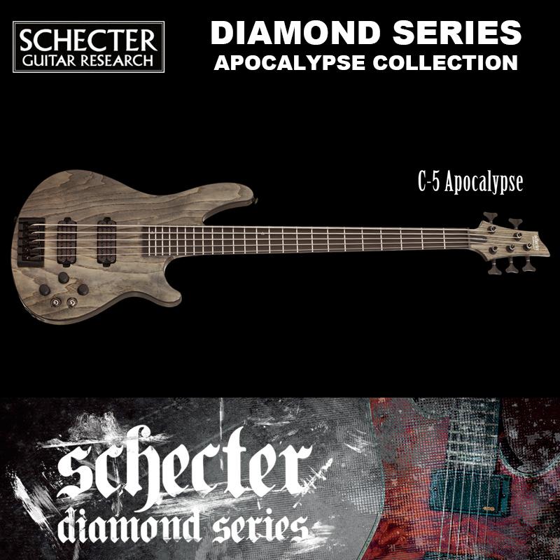 シェクター SCHECTER ベース / C54 APOCALYPSE AD-C-5-APOC C5 アポカリプス アポカリプスコレクション 5弦 ブラック(黒) ダイヤモンドシリーズ 送料無料