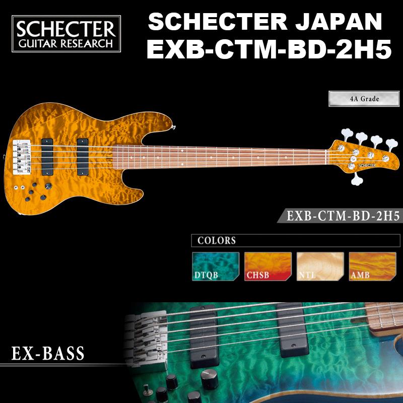 シェクター SCHECTER / EXB-CTM-BD-2H5 / ジャズベースタイプ 5弦 エレキギベース EXシリーズ カラー、指板選択可 ハードケース付 送料無料