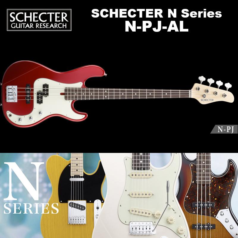 シェクター SCHECTER / N-PJ-AL / PJベース アルダー カラー:レッド(赤) Nシリーズ ソフトケース付