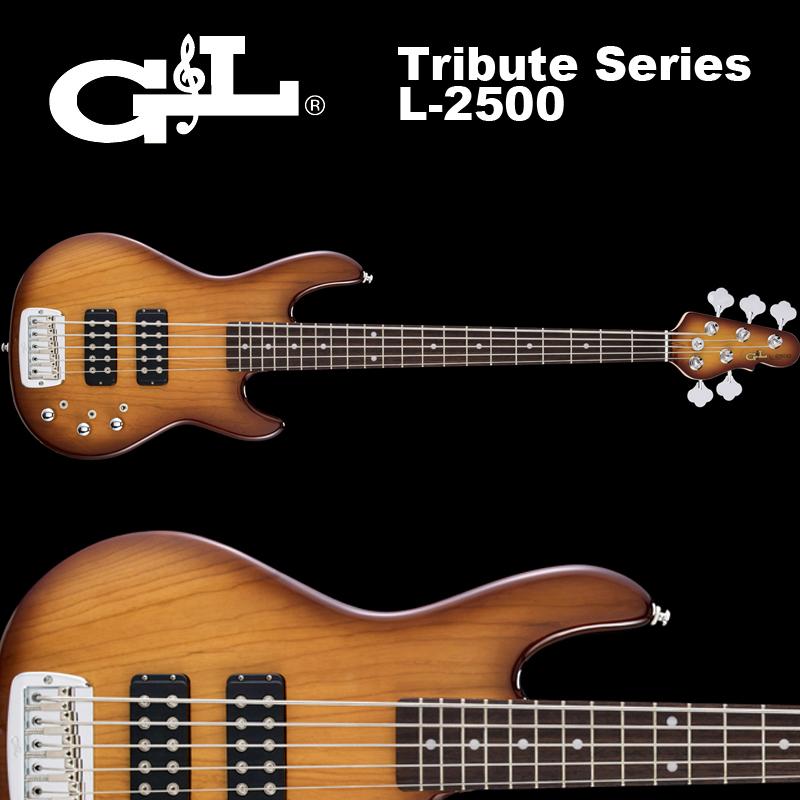 G&L Tribute Series / L-2500 Tobacco Sunburst / L2500 5弦ベース タバコ・サンバースト 国内正規品 送料無料