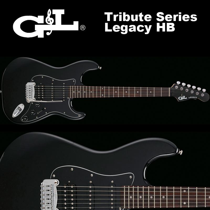 G&L Tribute Series / Legacy HB Gross Black / トリビュート レガシー HB グロス ブラック ストラト 国内正規品 送料無料