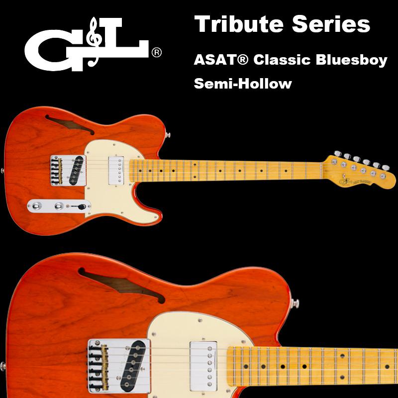 G&L Tribute Series / ASAT Classic Bluesboy Semi-Hollw Clear Orange / アサート クラシック ブルースボーイ セミホロウ オレンジ テレキャスター 国内正規品 送料無料