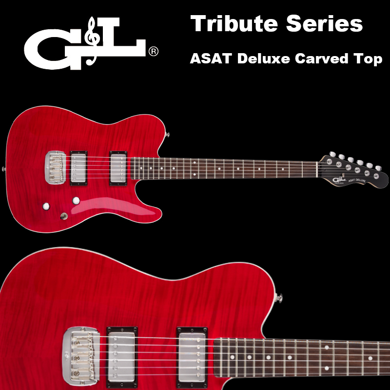 G&L Tribute Series / ASAT Deluxe Carved Top Trans Red / アサート デラックス カーブドトップ トランスレッド テレキャスター 国内正規品 送料無料