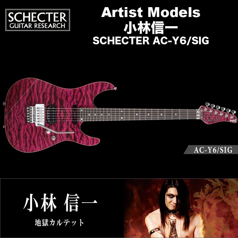 シェクター エレキギター / 小林信一 (地獄カルテット) モデル SCHECTER AC-Y6/SIG アーティストモデル 送料無料